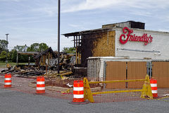 Friendly's Restaurant Burnt-down Royalty Free Stock Photography
