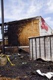 Friendly's Restaurant Burnt-down Royalty Free Stock Photo