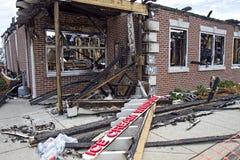 Friendly's Restaurant Burnt-down Stock Photos