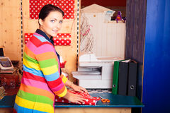 Friendly Sales Person At Children`s Store Royalty Free Stock Photography