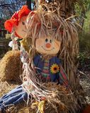 Friendly Scarecrows Royalty Free Stock Photography