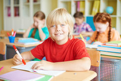 Friendly schoolboy Royalty Free Stock Photography
