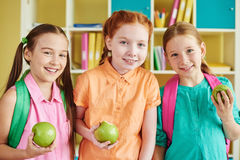 Friendly schoolgirls Royalty Free Stock Image