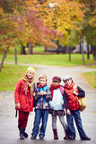 Friendly schoolkids Royalty Free Stock Photography