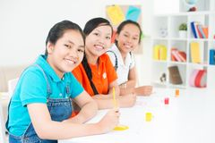 Friendly schoolmates Stock Photography