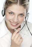A friendly secretary/telephone operato Stock Image