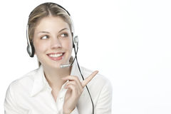 A friendly secretary/telephone operato Stock Photo