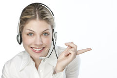 A friendly secretary/telephone operato Stock Photography