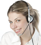 A friendly secretary/telephone operato Royalty Free Stock Images