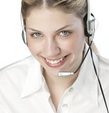 A friendly secretary/telephone operato Royalty Free Stock Photo