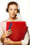 Friendly secretary/telephone operator Royalty Free Stock Images