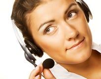 Friendly secretary/telephone operator Stock Photo