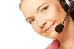 Friendly secretary/telephone operator Royalty Free Stock Photos