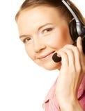 Friendly secretary/telephone operator Royalty Free Stock Images