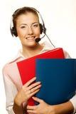 Friendly secretary/telephone operator Royalty Free Stock Photography