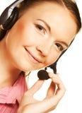 Friendly secretary/telephone operator Stock Photos