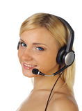 A friendly secretary/telephone operator Royalty Free Stock Images