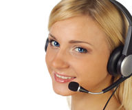 A friendly secretary/telephone operator Royalty Free Stock Images