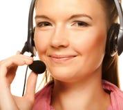 Friendly secretary/telephone operator Stock Image