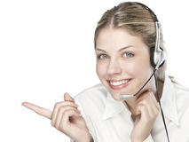 A friendly secretary/telephone operator Stock Images