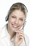 A friendly secretary/telephone operator Royalty Free Stock Photos