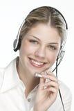 A friendly secretary/telephone operator Royalty Free Stock Photos