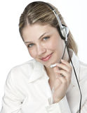 A friendly secretary/telephone operator Stock Photos