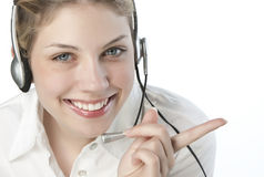 A friendly secretary/telephone operator Royalty Free Stock Photo
