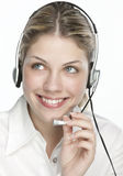 A friendly secretary/telephone operator Stock Photo