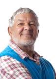 Friendly senior citizen Stock Photo