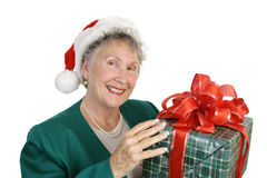 Friendly Senior & Gift Stock Photos