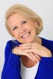 Friendly senior woman Stock Photos
