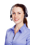 Friendly service operator Royalty Free Stock Image