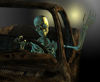 Friendly Skeleton Driver Stock Images