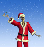 Friendly Skeleton Santa royalty free stock photo