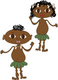 Friendly small afro. Figure unanimous merry little afro Royalty Free Stock Photography