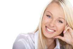 Friendly smile. The way to success is a friendly smile stock image