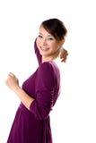 Friendly smile of Asian Girl Stock Photos