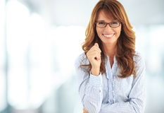 Friendly smile of a beautiful woman Royalty Free Stock Photography