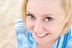 Friendly Smile. Of a beautiful young girl Royalty Free Stock Photos