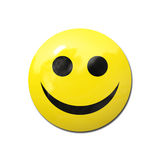Friendly smiley. Illustration of a happy and friendly yellow smiley on white background stock illustration