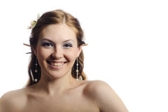 Friendly smiling beauty woman Stock Photography