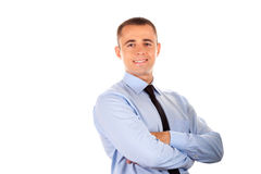 Friendly and smiling businessman Stock Photo