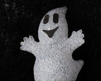 Free Friendly Smiling Ghost, Cute Halloween Party Decoration Royalty Free Stock Photo - 197746585
