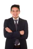Friendly and smiling hispanic businessman Stock Image