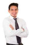 Friendly and smiling hispanic businessman Royalty Free Stock Image