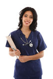 Friendly Smiling Hispanic Female Nurse Royalty Free Stock Image