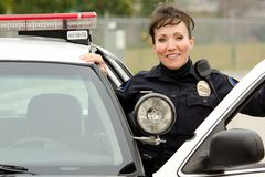 Smiling officer royalty free stock images