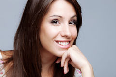Friendly smiling woman Royalty Free Stock Images