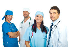 Friendly smiling young team of doctors Stock Photo